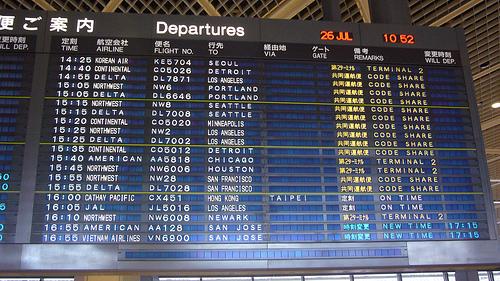 2012年末年始の年末年始の海外航空券の予約動向・ランキング