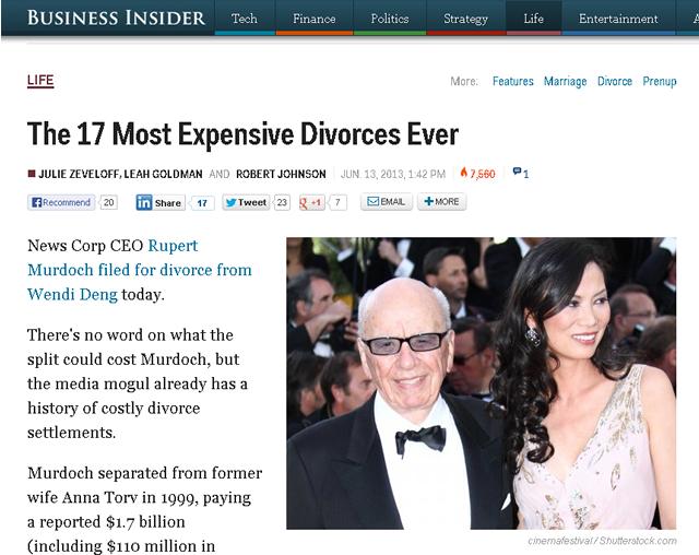 離婚慰謝料の歴代世界ランキング トップ17