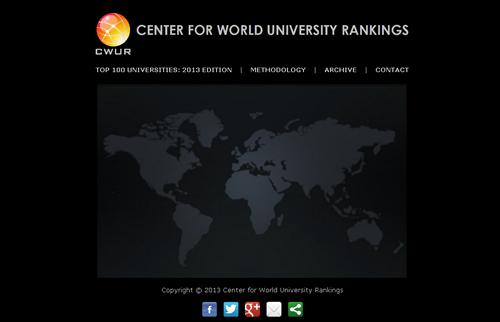 世界大学ランキング・センター(cwur.org)による2013年世界大学ランキングが発表