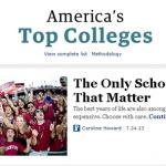 フォーブス誌の優良大学ランキング