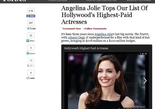2013年ハリウッドで最もお金を稼いだ女優は?「最も稼いだ女優」ランキング