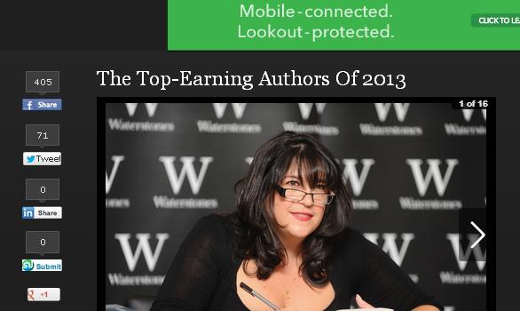 今、世界で最も収入が多い小説家は? 2013年作家長者番付(収入ランキング)