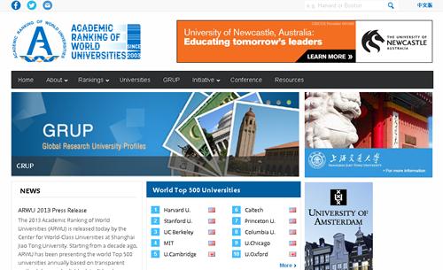 2013年世界大学学術ランキング