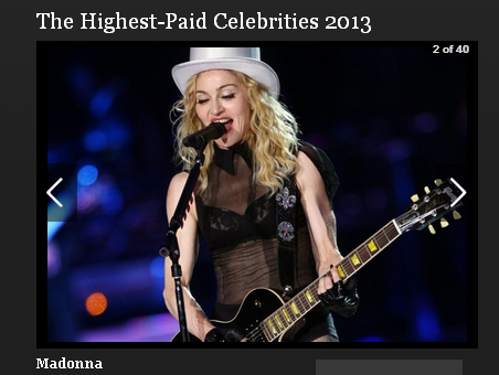 2013年、最もお金を稼いでいるセレブは?「2013年最も稼いでいるセレブ・ランキング」
