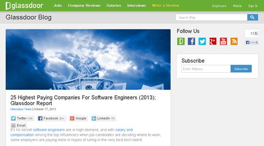 米国で最もソフトウェア開発者のサラリーが高い企業は? ソフトウェア開発者の給与ランキング ベスト25