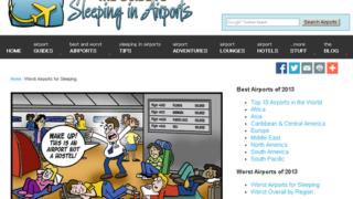 2013年 一夜を過ごすのにベストな世界の空港&ワーストな空港ランキング