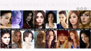 「2013 世界でもっとも美しい顔100人」