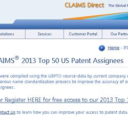米国特許取得ランキング