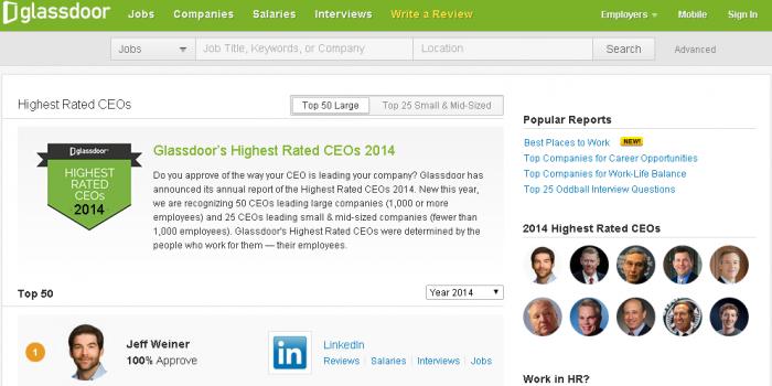 米企業で最も支持されているCEOは? 2014年版最高経営責任者(CEO)支持率ランキング