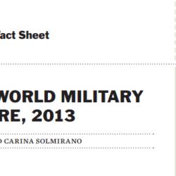 2013年世界の軍事費トレンド by ストックホルム国際平和研究所