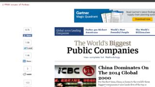 2014年版世界の有力企業2000社 by フォーブス