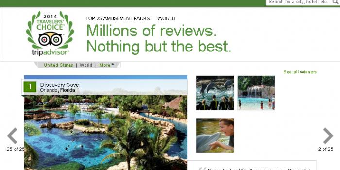 2014年世界で人気のアミューズメントパーク&ウォーターパークは?