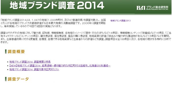 2014年、最も魅力的な市区町村&都道府県は? 「地域ブランド調査2014」