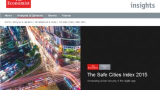 世界で最も安全な都市のランキング「The Safe Cities Index 2015」