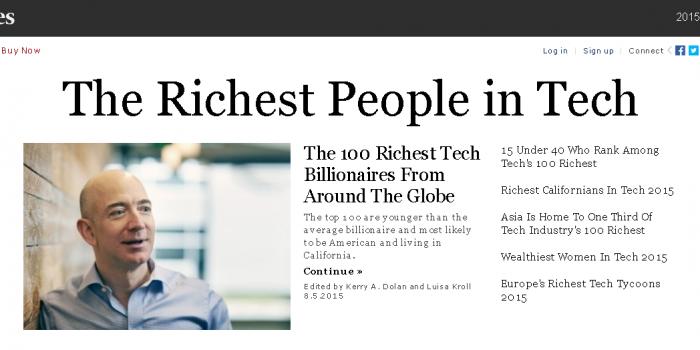 IT業界の富豪 世界100人 by フォーブス誌(Forbes)