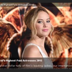 世界で最も稼いだ女優ランキング2015