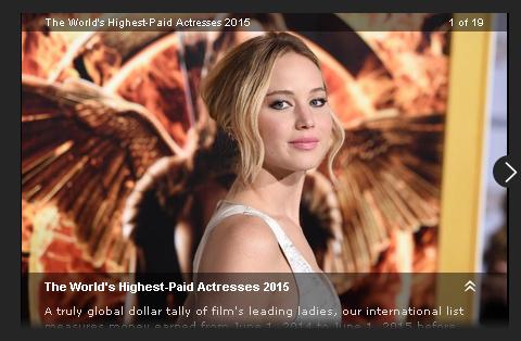 2015年世界で最も稼いだ女優は? 世界で最も稼いだ女優ランキング2015