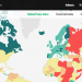 2015年版世界平和度指数 グローバルランキング by 経済平和研究所